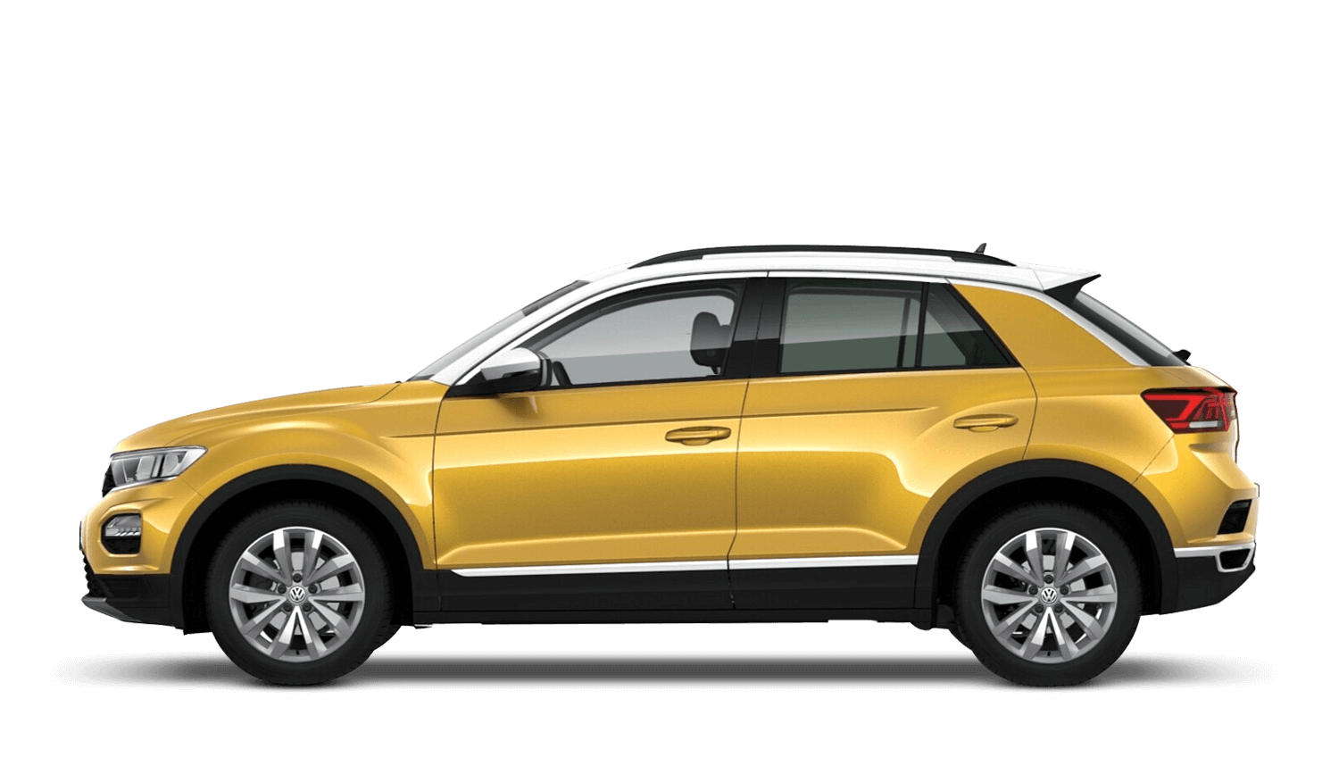 Turmeric Yellow with Pure White Roof (Metallic / Pearl) Volkswagen T Roc