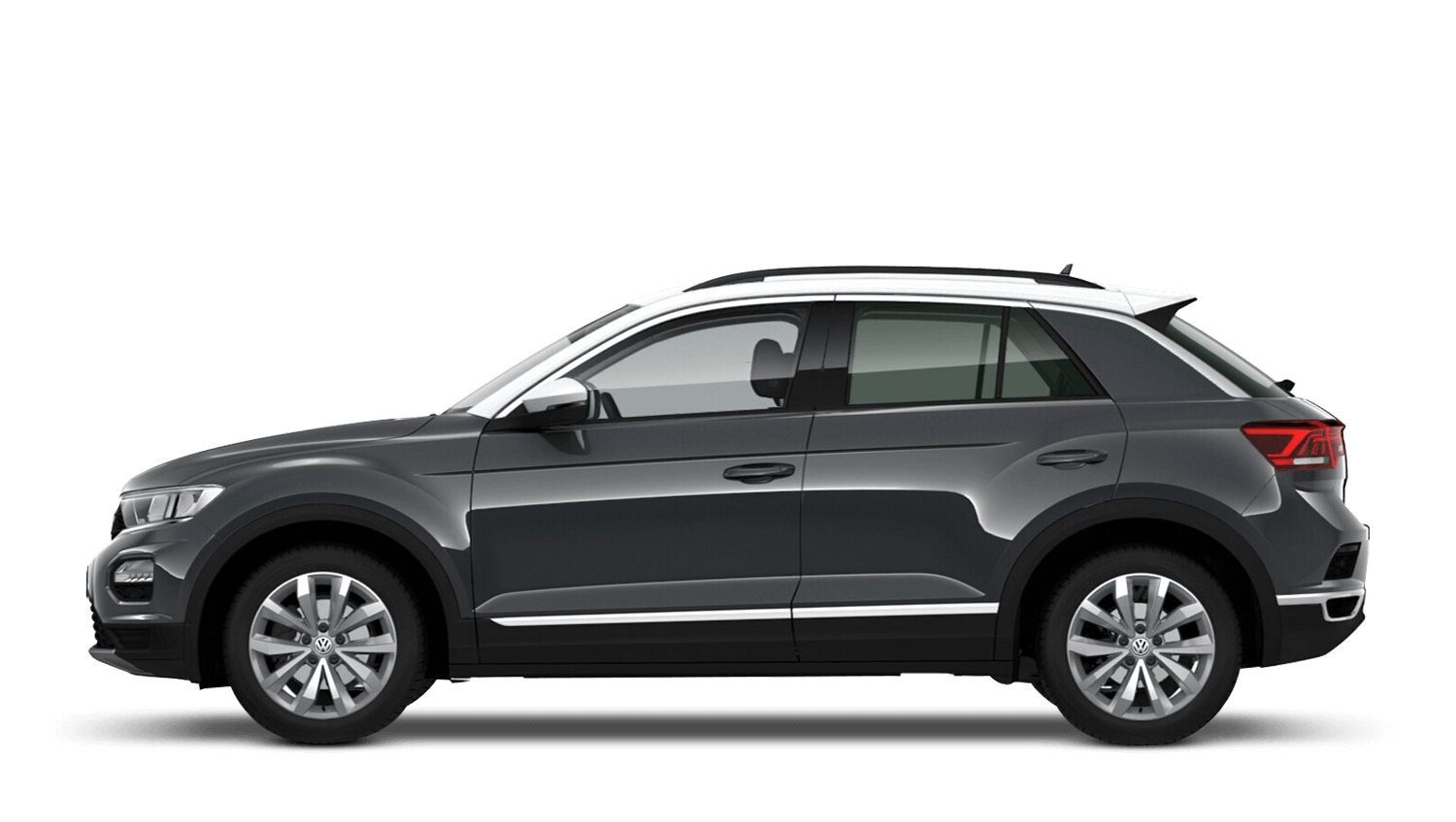Urano Grey with Pure White Roof (Solid) Volkswagen T Roc