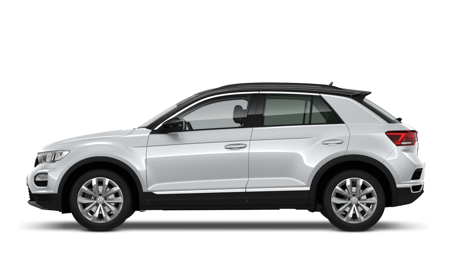 White Silver with Black Roof (Metallic / Pearl) Volkswagen T Roc