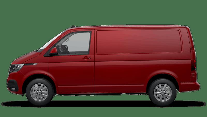 Cherry Red Transporter 6.1 panel van