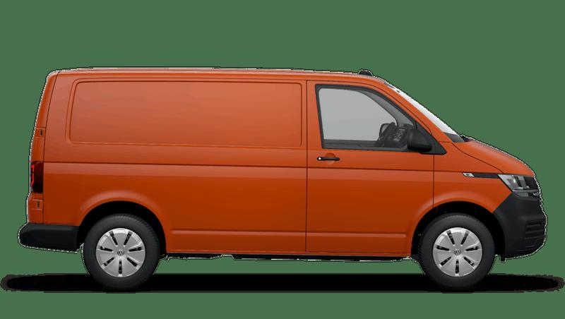 Bright Orange Transporter 6.1 panel van
