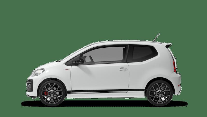 Pure White with Black Roof (Solid) Volkswagen up! 3 door