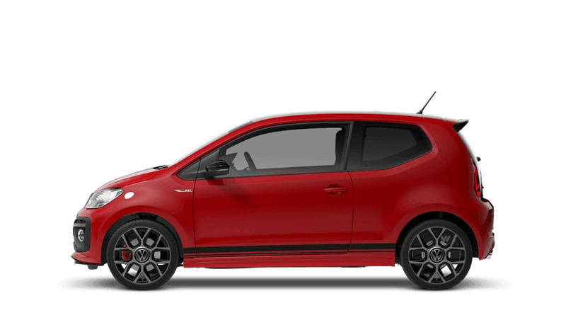 Tornado Red Black Roof (Solid) New Volkswagen up! 3 door