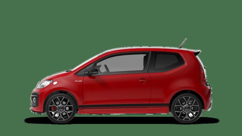 Tornado Red with Black Roof (Solid) Volkswagen up! 3 door